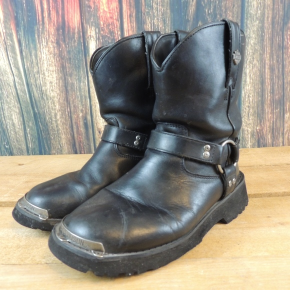 425489ae58802e Harley-Davidson Shoes - HARLEY DAVIDSON LEATHER HARNESS ANKLE BOOTS
